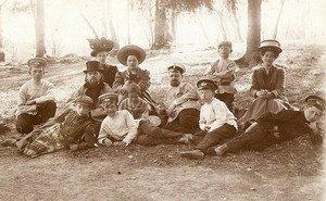 Семья на Древлянке. 1914 год