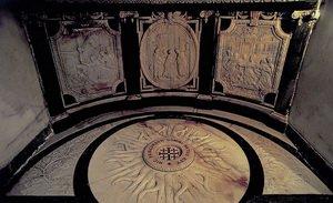 Фото звезды на полу базилики