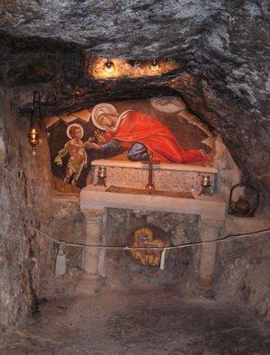 Пещера, где жили пр. Елизавета и Иоанн