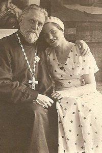 Последний снимок о. Николая с дочерью Верой