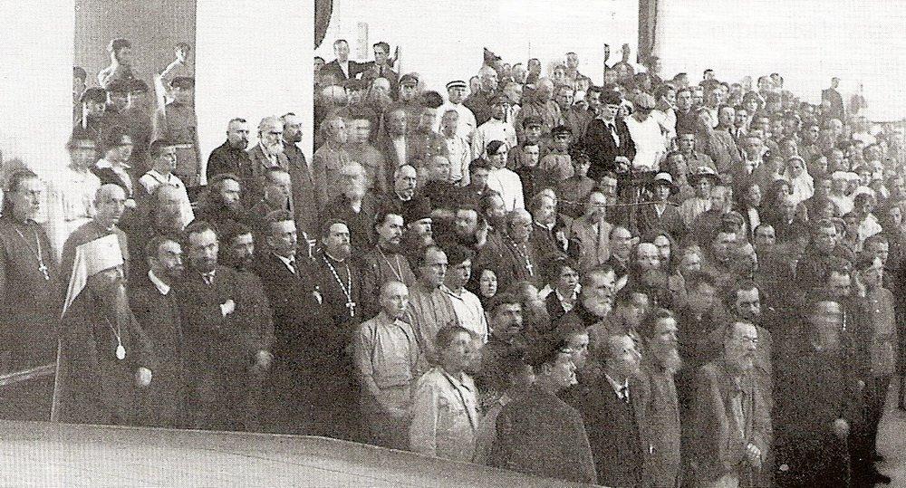 Оглашение приговора. Петроградский процесс 5 июля 1922 г.