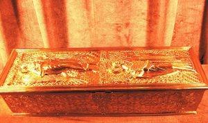 Ковчег с мощами святых Иоанна Предтечи и Дионисия Ареопагита