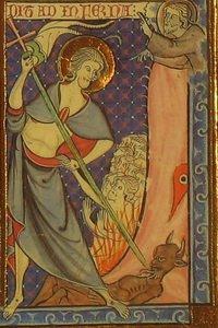 Сошествие во ад. Реймский миссал. 1285-1297. РНБ