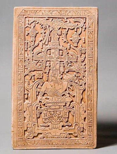 Саркофаг из «Храма надписей», Паленке (Мексика) и его лженаучная интерпретация Э. фон Дэникена (внизу) - по В.И. Гуляеву.