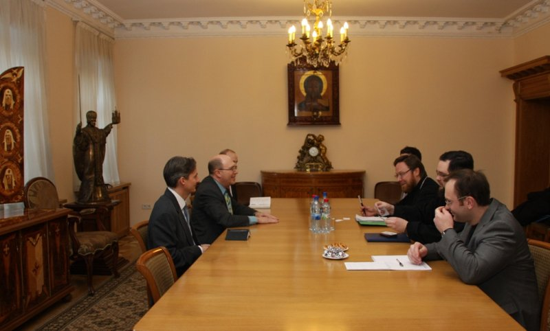 Meeting with representatives of us embassy at the for Consul external service