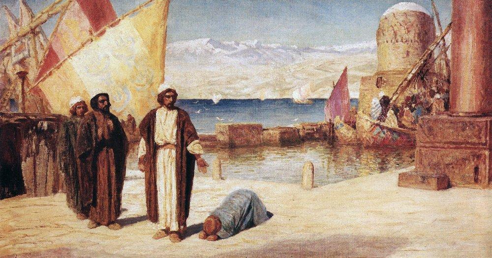 Фоторепортаж Библейские сюжеты в живописи В Д Поленова Портал  Пределы Тирские