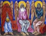 «Капризные иконы» Наталии Гончаровой и религиозные портреты Павла Корина