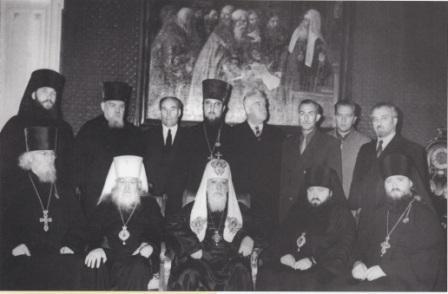 Делегация РПЦ перед отъездом на Ближний Восток. Декабрь 1960 г.