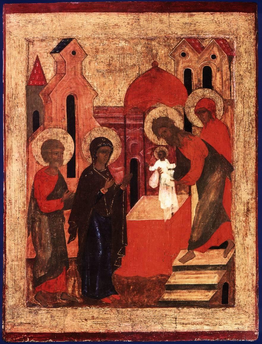 Икона Сретение. 16 век