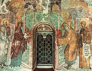 Фреска ц. Св. Троицы в Сопочанах. 1265 г. Сербия.
